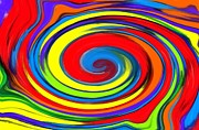 Color Wheel Posters - Rainbow Swirl Poster by Chris Butler