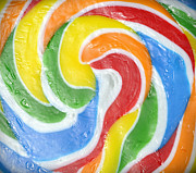 Lolly Pop Prints - Rainbow Swirl Print by Luke Moore