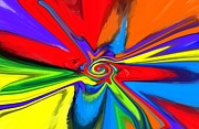 Color Wheel Posters - Rainbow Time Warp Poster by Chris Butler