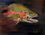 Bite. Trout Prints - Rainbow Trout Print by Anne Marie Propst