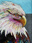 American Eagle Paintings - Rainbow Warrior - Intense Stare by Joe  Triano