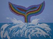 Kate Farrant - Rainbow whale tail