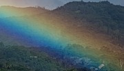 Rainbow Wrapped Mountain Print by Bonita Hensley