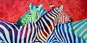 ANA MARIA EDULESCU - RAINBOW ZEBRAS IN LOVE