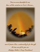 Print On Acrylic Prints - Rainbows End Print by Don Wright