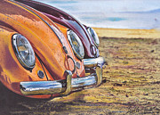Volkswagen Pastels Prints - Raindrops Print by Art Haus Ink