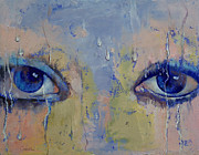 Surrealistic Paintings - Raindrops by Michael Creese