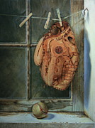 Baseball Glove Painting Metal Prints - Rained Out Metal Print by William Albanese Sr