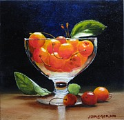 Food And Drink Originals - Rainers in Glass by Jan  Brieger-Scranton