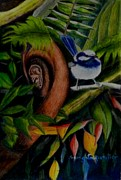 Greenery Drawings - Rainforest Chatter by Sandra Sengstock-Miller