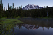 Mount Rainier Prints - Rainier Awakening Print by Mike Reid