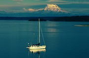 Gig Prints - Rainier Sailing Print by Benjamin Yeager