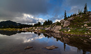 Mount Rainier Prints - Rainier Spray Park Reflection Print by Mike Reid