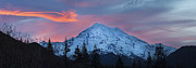 Mount Rainier Framed Prints - Rainier Sunrise Framed Print by Mike Reid