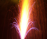 Fire Crackers Prints - Raining Fire Print by Brenda Conrad