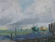 Florida Waterscape Originals - Raining on St. George by Susan Richardson