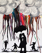 Erik Pinto Metal Prints - Raining Rainbows Metal Print by Erik Pinto