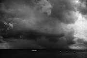 Rainstorm Thunderstorm Storm Clouds Approaching Key West Florida Usa Print by Joe Fox