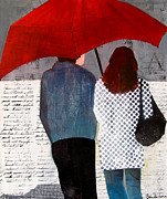 Rainy Day Mixed Media - Rainy Day Friends by Belinda Lima