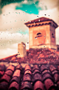 Silvia Ganora Framed Prints - Rainy day in Italy Framed Print by Silvia Ganora