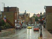 Small Towns Metal Prints - Rainy Day in Shullsburg Metal Print by Coleen Harty