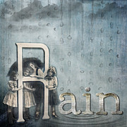Puddle Mixed Media Posters - Rainy Day Poster by Karen  Burns
