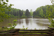 Jonathan Welch Prints - Rainy Day on Lake Norman Print by Jonathan Welch