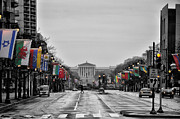 Franklin Metal Prints - Rainy Day on the Parkway Metal Print by Bill Cannon