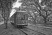 Streetcar Prints - Rainy Day Ridin monochrome Print by Steve Harrington