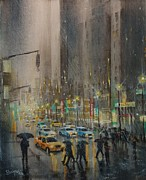 Chicago Paintings - Rainy Days and Mondays by Tom Shropshire