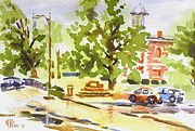Rainy Street Painting Originals - Rainy Days by Kip DeVore