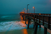 Pier Digital Art Originals - Rainy Morning at the Pier by Michael Thomas