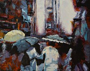 Crowd Scene Originals - Rainy New York by Laura Toth