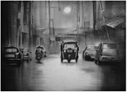 Artist Vivekananad Patil - Rainy night