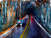 Asphalt Paintings - Rainy Night on the Road by Sandra Stone