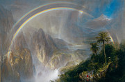 Dark Skies Posters - Rainy Season In The Tropics Poster by Frederic Church