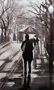 Paul Mitchell Art - Rainy Street 1 by Paul Mitchell