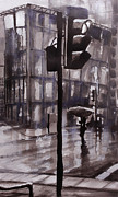 Paul Mitchell Art - Rainy Street 2 by Paul Mitchell