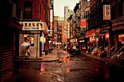 New York City Rain Prints - Rainy Street - New York City Print by Vivienne Gucwa