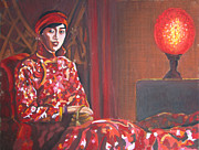 Servant Pastels Prints - Raise the Red Lantern Print by Karen Coggeshall