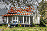 Raised Cottage With Tin Roof Print by Lynn Jordan