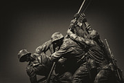 Marine Corp Prints - Raising the flag on Iwo Print by Paul W Faust -  Impressions of Light
