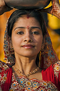 Festivals Of India Photos - Rajasthani Beauty - Mewar Festival - Udaipur India by Craig Lovell