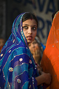 Festivals Of India Photos - Rajatahani Eyes - Udaipur India by Craig Lovell