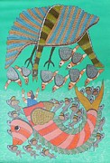 Gond Tribal Art Paintings - Raju 70 by Raju Rajendra Shyam
