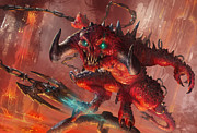 Fantasy Digital Art - Rakdos Cackler by Ryan Barger
