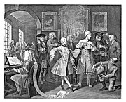 18th Century Drawings - Rakes Progress Hogarth Engraving by