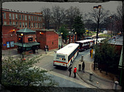Raleigh Bus Terminal - Evening Print by Paulette B Wright
