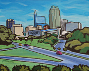 Pnc Framed Prints - Raleigh Skyline 2 Framed Print by Tommy Midyette