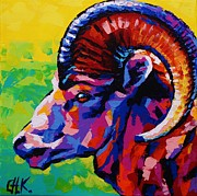 Christine Karron Metal Prints - Ram Metal Print by Christine Karron